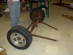 greent102 - An actual Ford Model A front axle, converted with disc brakes.