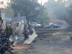 Cars that were left.  Some fine, others burnt to the ground.