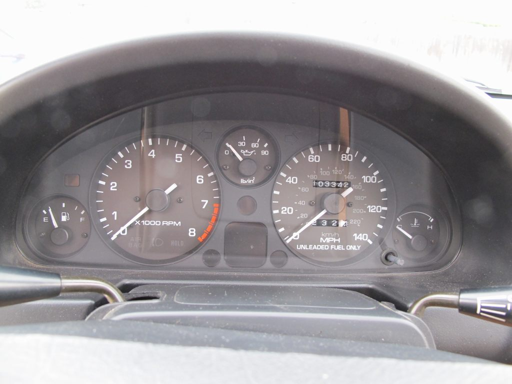 Mileage and real oil pressure gauge from '94 donor.
