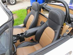Leather custom two tone seats.