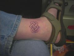 This is the first knot I know I want.  In think picture it's drawn on my ankle in sharpie about height I think I want the anklet to be.