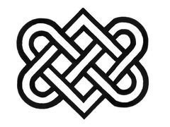 This is the clearest image of this knot.  But I want it to have something to give it depth.  I'm thinking a stone or ironwork feel for the celtic knots.