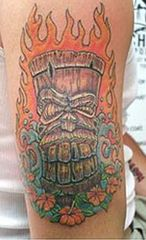 tiki flames tat